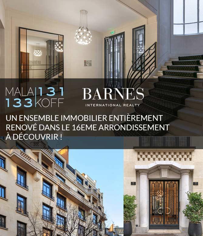 un ensemble immobilier entièrement rénové dans le 16ème arrondissement.