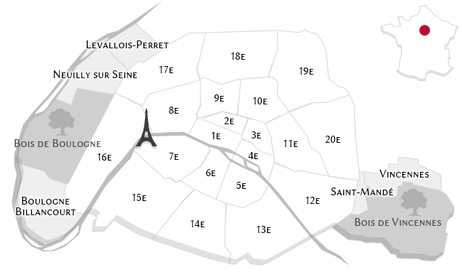 The luxury properties in Paris
