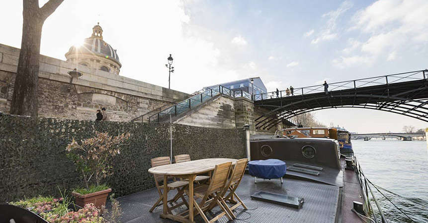 Houseboat with a view of the Louvre seeks new owner