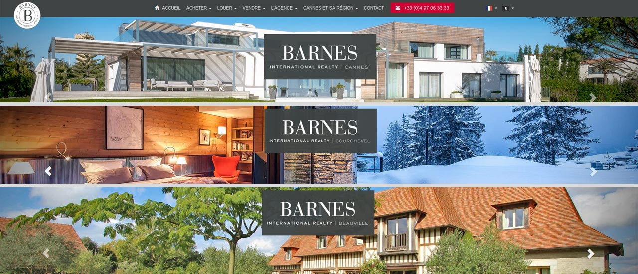 The BARNES Cannes, Deauville and Courchevel websites are renewed ...